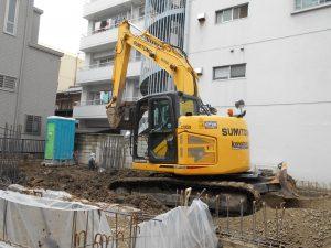 某 マンション掘削工事